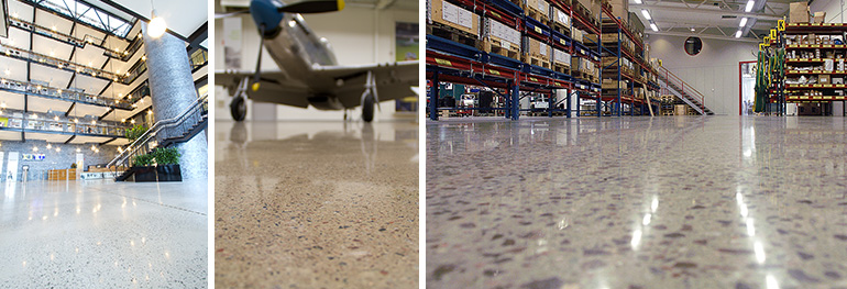 Superfloor Platin Betonboden schleifen und polieren