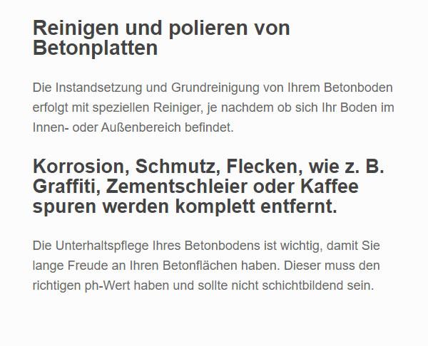 Betonplatten Reinigung für  Nordrhein-Westfalen