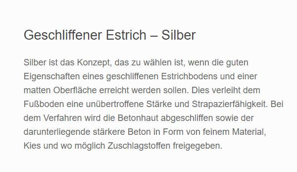 estrich boden für  Nordrhein-Westfalen